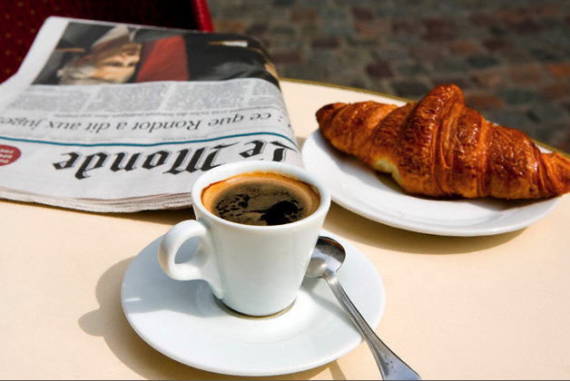 http://frenchalacarteblog.com/2013/03/05/its-all-about-l-a-croissants/paris-cafe-croissant-coffee-and-newspaper/